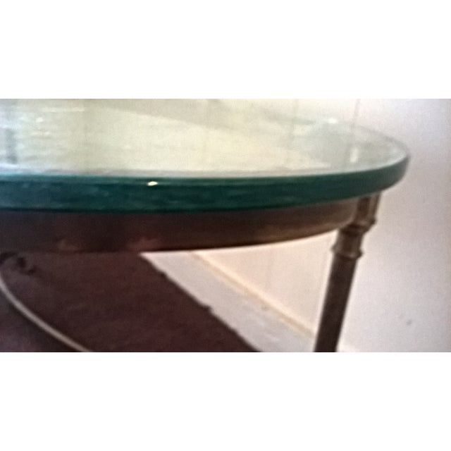 Vintage Brass and Steel Hoofed Foot Coffee Table - Image 5 of 6