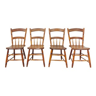 Vintage French Bistro Chairs - Set of 4