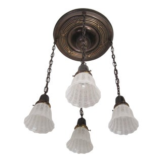 Reed & Ribbon Flush Mount Light Fixture (4-Light)