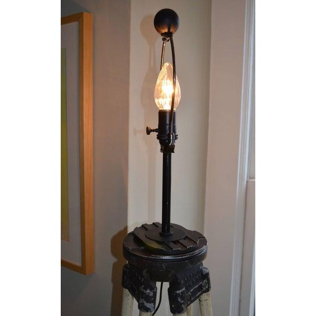 Black-And-White Surveyor's Tripod Floor Lamp - Image 6 of 7