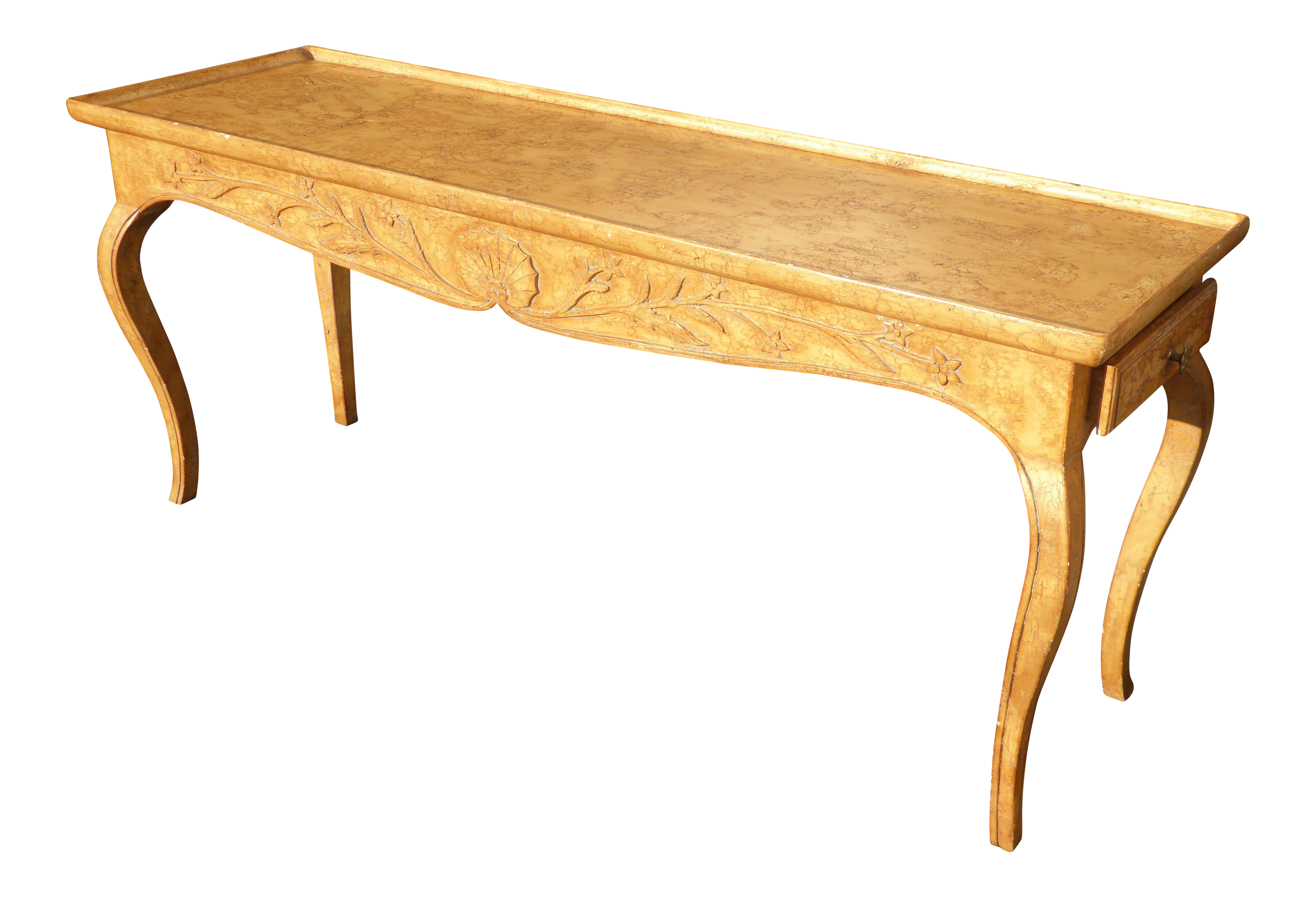 Vintage Rustic French Country Console Table   Image 1 Of 11