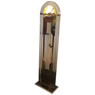 Lucite Grand Father Clock, Marked Germany