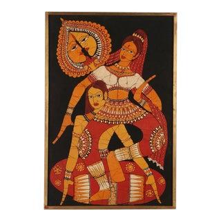Vintage Indian Batik Painting
