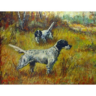 Hunting English Setters Oil Painting