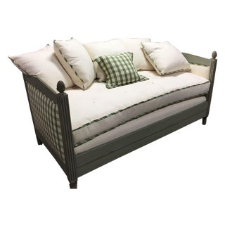 Antique French Painted Designer Daybed Sofa