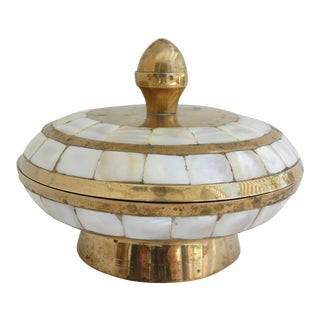 Brass and Shell Trinket Box