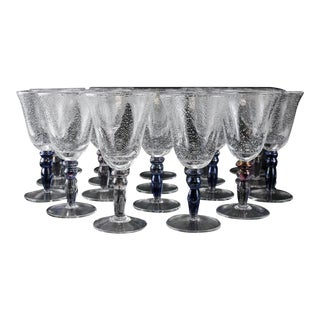 Venetian Art Glass Water Goblets - Set of 19