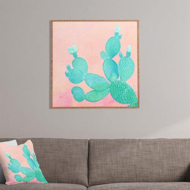 """Pastel Cactus"" Framed Wall Art by Kangarui - Image 2 of 2"