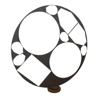 Abstract Round Iton Sculpture