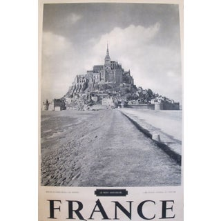 1950s Vintage French Travel Poster, Mont St-Michel