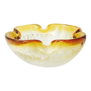 Vintage Murano Gold Art Glass Bowl