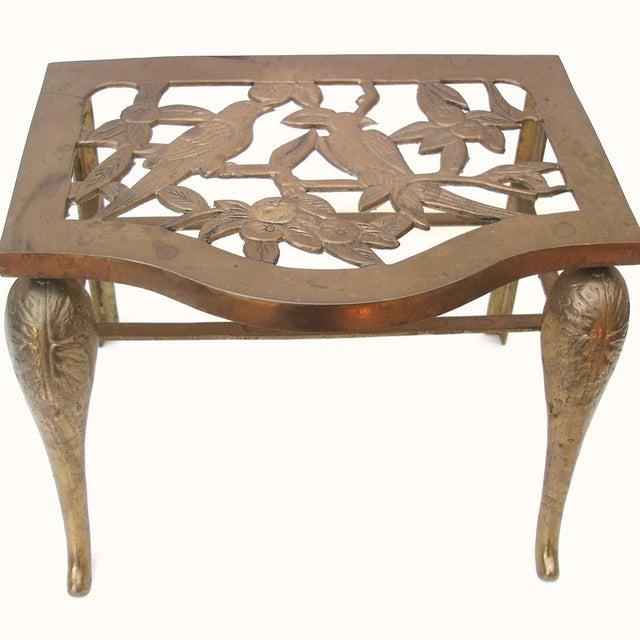 Fireplace Stool Hearth Trivet Brass Footman - Image 2 of 8