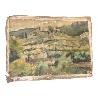 French Impressionistic Landscape Fragment Painting