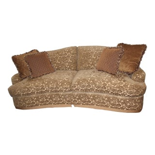 Burton James Gold Brocade Couch