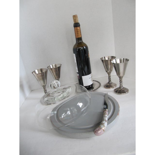 Silver-Plate Glasses/Coaster & Cheese Dome - 7 - Image 3 of 10