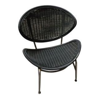 Mid-Century Modern Wicker Orange Slice Chair