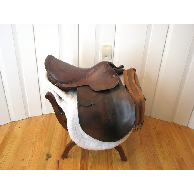 "Image of Crosby Millers 16.5"" Brown Leather Horse Saddle"