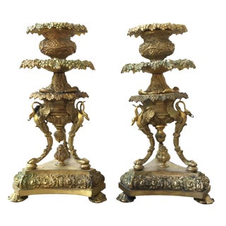 19th C. French Candlesticks - A Pair