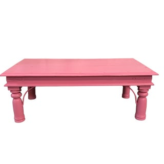 Shabby Chic Pink Coffee Table