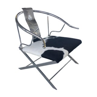Stainless Steel Modernist Lounge Chair