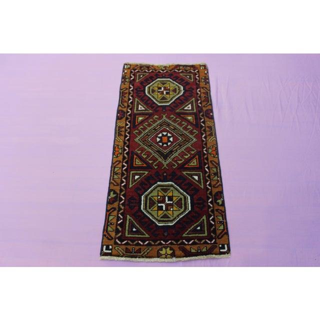 "Turkish Oushak Doormat Rug - 1'9 X 3'9"" - Image 2 of 8"