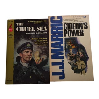 Cruel Sea Gideon's Power 1960s Books - Pair