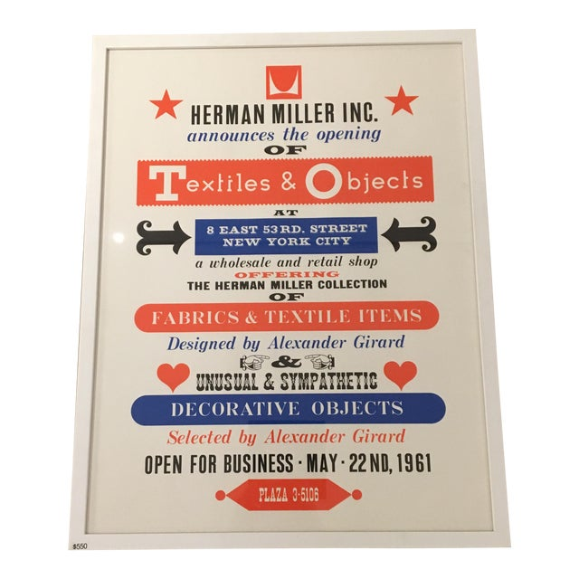 Herman Miller Textiles & Objects Print - Image 1 of 4