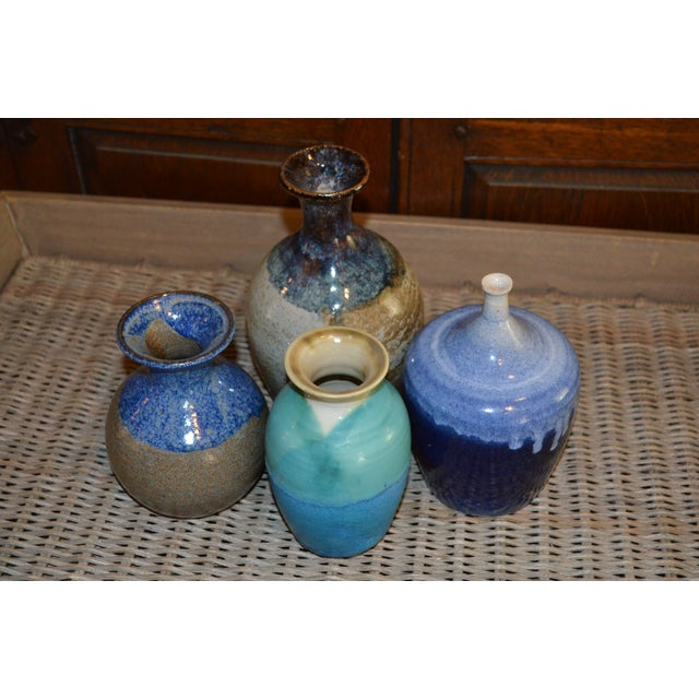 Collection of Drip Glazed Ceramic Vases - Set of 4 - Image 5 of 9