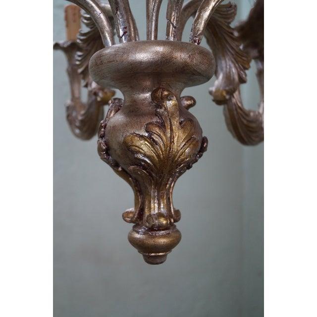 Italian Florentine Carved Gilt Rococo Chandelier - Image 7 of 10