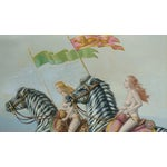 """Image of Raymond Whyte """"Nudes on Zebras"""" Surreal Oil Painting"""