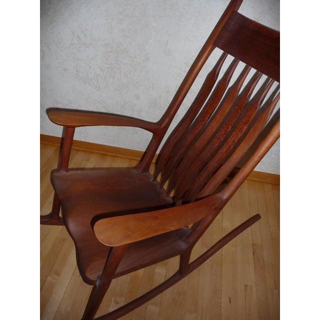 Sam Maloof Inspired Walnut Rocking Chair Chairish