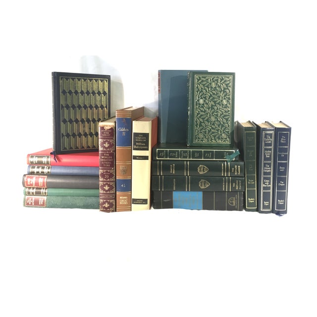Image of Vintage Gold Embossed Library- Set of 18