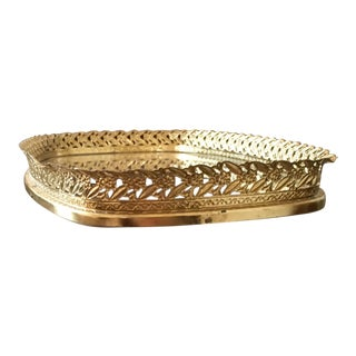 Vintage Brushed Gold Tray