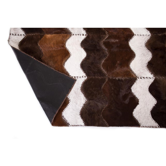 "Cowhide Patchwork Area Rug - 4' x 6'4"" - Image 6 of 8"