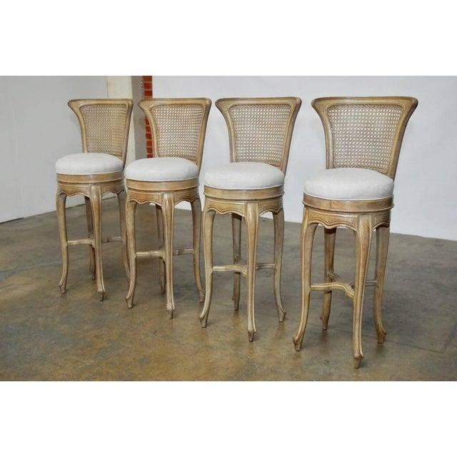 Vintage Swedish Gustavian Style Petite Barstools - Set of 4 - Image 2 of 10