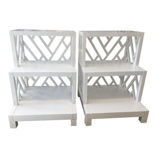 White Nantucket Side Tables - a Pair
