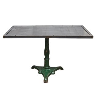 Metal table with Antique Base