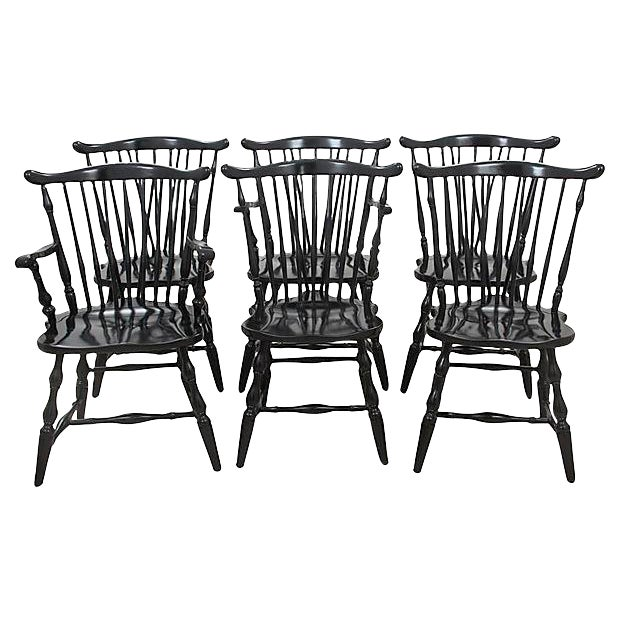 Pennsylvania House Windsor Style Dining Chairs - Set of 6 - Image 1 of 6
