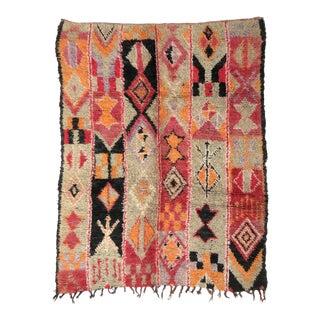 Vintage Moroccan Boujad Rug - 5′6″ × 6′9″