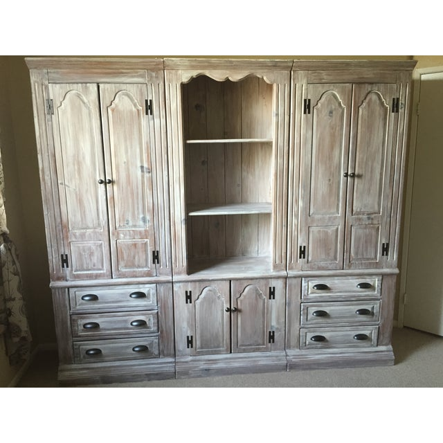 Solid Whitewash Armoire - Image 8 of 11