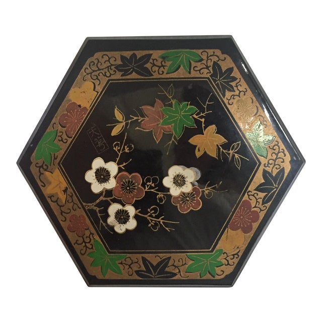 1950s Vintage Japanese Lacquer Style Box - Image 1 of 5