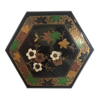 1950s Vintage Japanese Lacquer Style Box