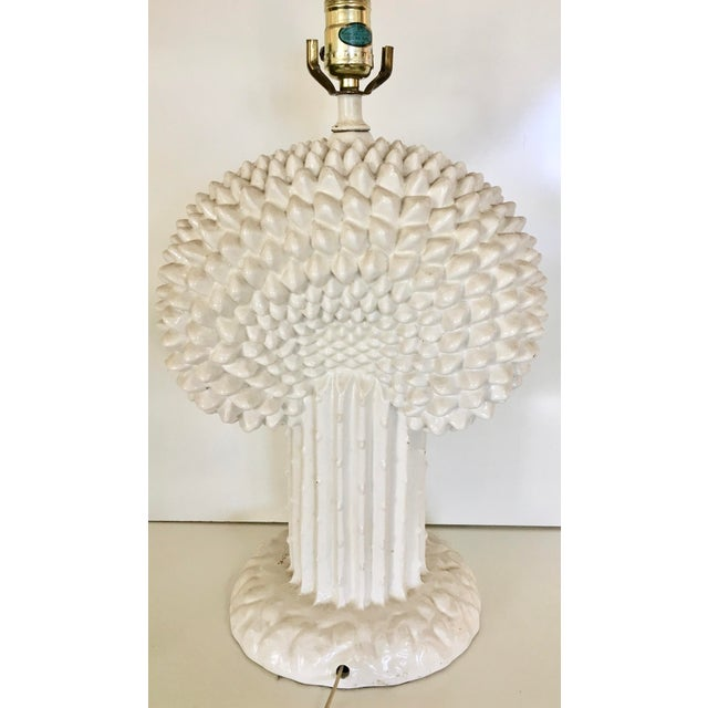 Vintage Italian Tree of Life Ceramic Table Lamp - Image 4 of 5