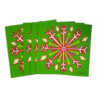 Jonathan Adler Snowflake Reversible Placemats - Set of 4