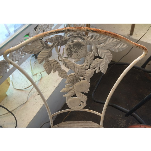 Fruit Decor Vintage Wrought Iron Chair - Image 4 of 5