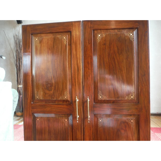 Indian Iron Wood CD/DVD Armoire - Image 5 of 10