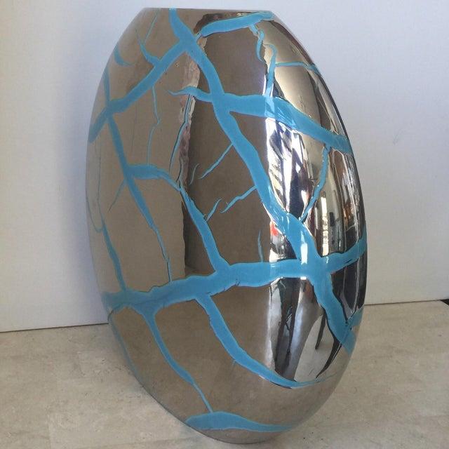 Roche Bobois Modern Ceramic Vase Chairish