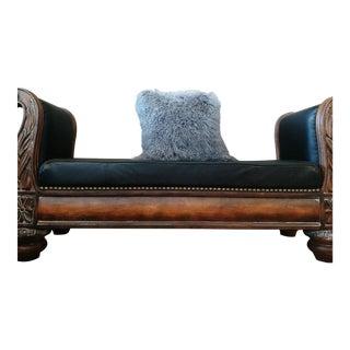 Gray Mongolian Lamb Pillow