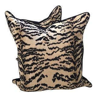 Cowtan & Tout Black Rajah Pillows - a Pair