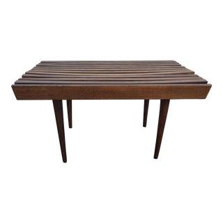 Mid-Century Slat Wood Coffee Table